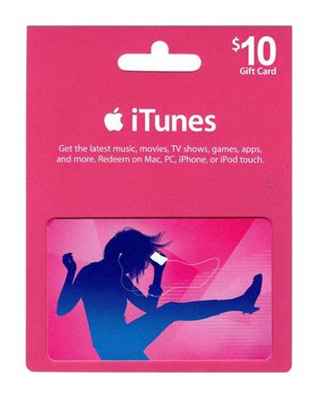 iTunes card $10