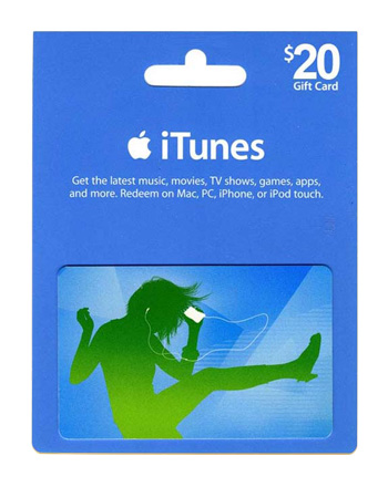 iTunes card $20