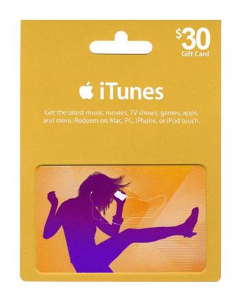iTunes card $30